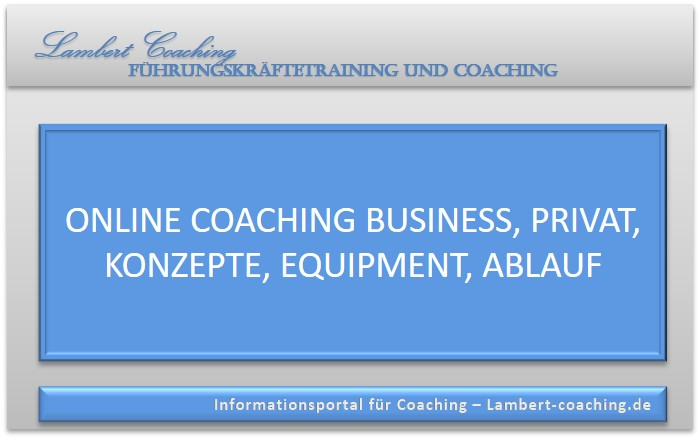 Online Coaching Business, Privat, Konzepte, Equipment, Ablauf